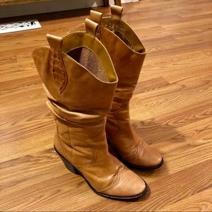 BCBGeneration Slouchy Cowgirl Boots